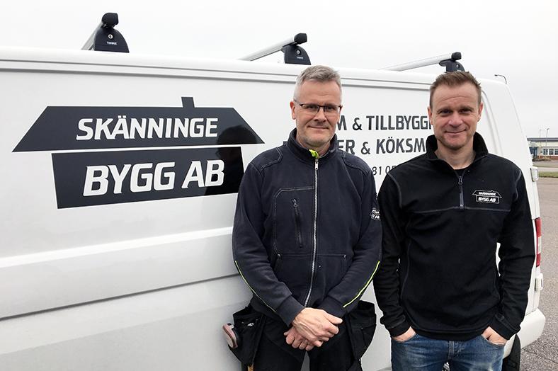 Görgen Claesson och Peter Andersson Skänninge Bygg